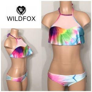 WILDFOX Mermaid Dye Mesh bikini. NWT